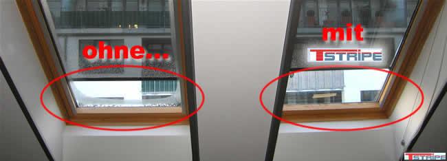 trockene Fenster mit Heizung