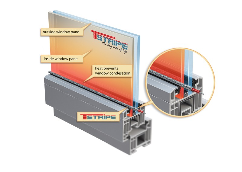 Choose your T-STRIPE window heater length