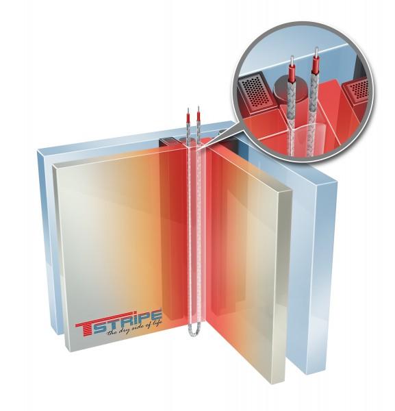 T-STRIPE Glasecke Nurglasecke Fensterheizung Einbausituation