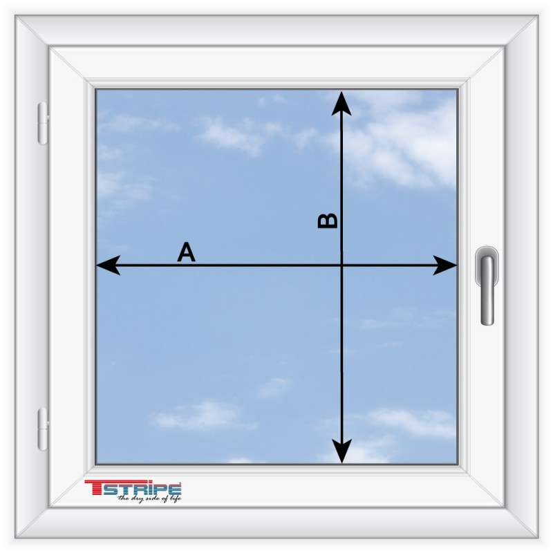 Komplettset-T-STRIPE-Fensterheizung Montage