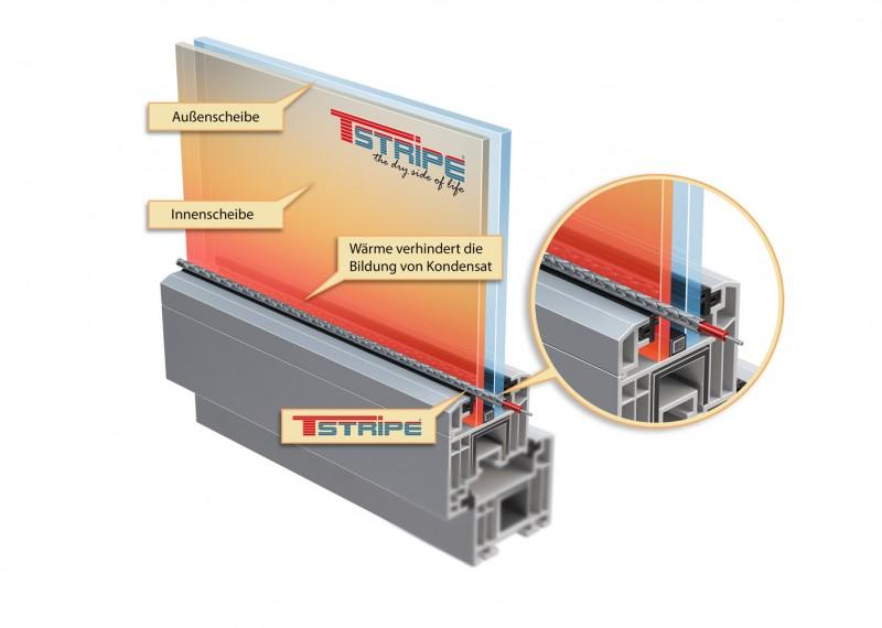 Heizelement-T-STRIPE-Fensterheizung auswählen